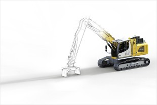 Efficient and environmentally friendly thanks to electric drive: The Liebherr LH 26 C Electro Industry