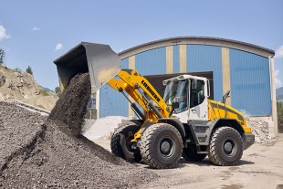 The robust L 546 is the largest member of Liebherr's new mid-size wheel loader range.