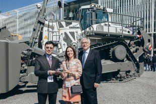 M. Baz Chuluunbaatar, Mrs Sophie Albrecht and Mr Willi Liebherr (f.l.t.r.:)