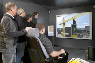 Liebherr crane simulator for professional crane driver training