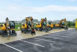 Several Liebherr earthmoving machines were displayed during the event.