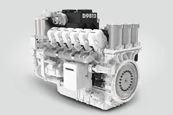 The first available cylinder configuration of the D98 series: the D9812 diesel engine