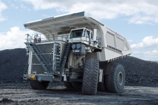 Liebherr T 284 ultra-class mining truck offers a payload of 400 tons (363 tonnes)