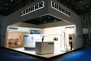 Liebherr component solutions for pitch- and yaw adjustment in wind turbines.