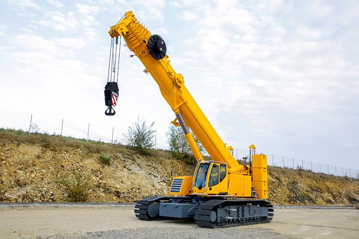 Telescopic Crane 200 Ton : Liebherr presents a tonne telescopic crawler crane at