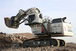 Liebherr R 9200 mining excavator in face shovel configuration