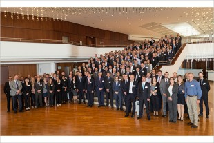 The participants in the Suppliers' Day 2016 of Liebherr-Aerospace Lindenberg GmbH in Friedrichshafen (Germany)