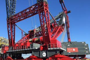 The Liebherr gear ring rope winch system is now successfully in use for ultra-heavy lifting in Brasil.