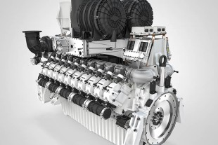 Liebherr exhibits its new 20-cylinder gas engine of the megawatt class at EnergyDecentral 2016