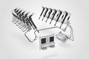The injectors of the new generation of common rail systems from Liebherr are also suitable for high performance engines owing to their large flow rate range between 600 and 2,200 ml/ 30s.