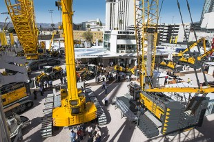 Liebherr at the 2014 Conexpo Con/Agg in Las Vegas.