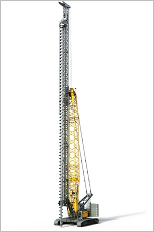 Rendering of a LRH 600 piling rig.