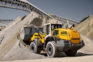 The Liebherr L 566 XPower® rehandling. With the power-split XPower® drivetrain, the wheel loader can handle both short and long distances as well as driving on gradients with maximum efficiency.