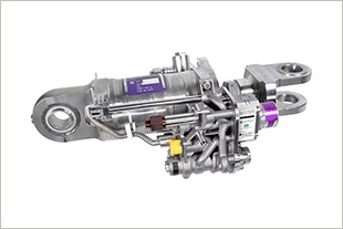 Spoiler actuator with 3D printed valve block developed by Liebherr-Aerospace