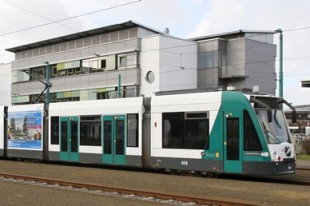 The seven-car Combino low-floor trams will be equipped with roll coupling components from Liebherr. © Siemens AG