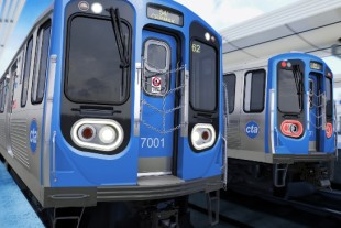 Chicago Transit Authority's (CTA) modernized 7000 series urban rail vehicles