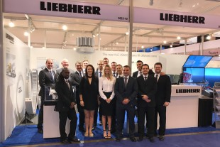The Liebherr stand at OTC 2017 in Houston, Texas