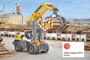 High-performance drive, unique design, powerful lift arm: the L 580 LogHandler XPower® is a specialised machine for handling logs.