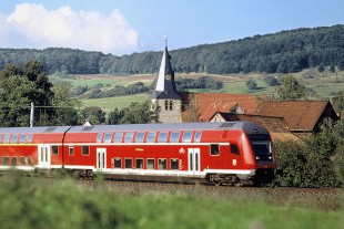 Double-deck train operated by Deutsche Bahn – Copyright Bombardier
