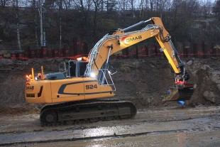 In Sweden, additional LED spotlights are often fitted on heavy machinery for optimal lighting during work.