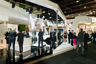 Impression of Liebherr-Aerospace's stand at Paris Air Show in 2015- © Liebherr