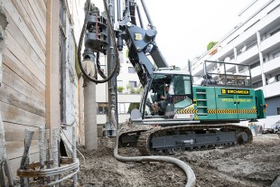 LRB 18 drilling with double rotary head on a jobsite in Luzern, Switzerland.