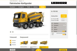 The online configuration tool enables you to design your dream truck mixer easily.