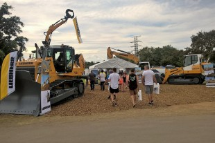 Liebherr machinery exhibit at the Diesel, Dirt & Turf Expo.