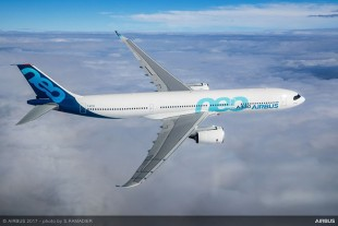 The A330neo during its successful first flight