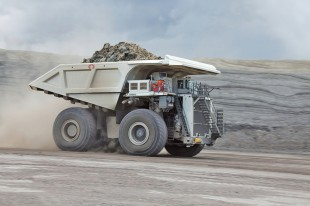 The Liebherr T 284 mining truck