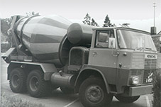 First Liebherr truck mixer from 1967, an HTM 601 on a Henschel chassis