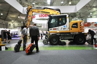 The A 922 Rail from Liebherr attracted plenty of interest at AusRail Plus in Brisbane