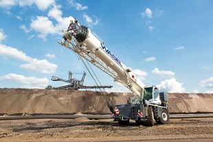 Wasel will predominantly use the new Liebherr rough-terrain cranes in opencast lignite mining.