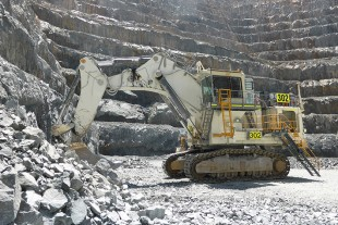 The Liebherr R 994 B mining excavator that holds the highest SMU in the southern hemisphere.