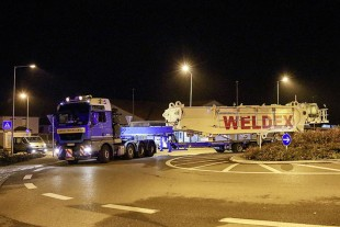 The LR 11000 for Weldex en route to Scotland.