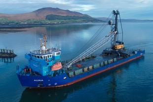 The arrival of an LHM 420 in Greenore, Ireland.