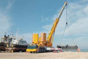 The new LTM 1450-8.1 mobile crane is one of around 400 Liebherr cranes in the Al Faris fleet.