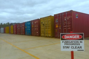The Fumigation site at Liebherr-Australia's National Distribution Centre in Adelaide.