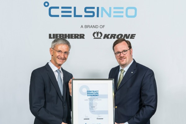 Liebherr and Krone sign cooperation agreement. - Photo credits: Stefan Schöning