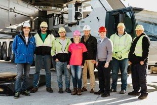 Members of the Trand and Liebherr team that helped bring the first LG 1750 to the US.
