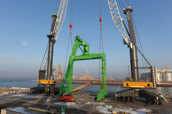 Liebherr Special Design Ship Crane For World S Largest Cutter Dredger Leaves Factory In Rostock Germany Liebherr