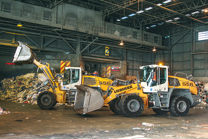 Liebherr featuring powerful wheel loader and high-precision