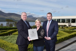 Pictured L-R: Michael Brennan, Managing Director Killarney Hotels Ltd, Lindsey Ueberroth, CEO Preferred Hotels & Resorts, David Cronin Group Sales & Marketing Manager Killarney Hotels Ltd.