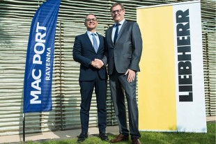 Matteo Bilotti, Member of the Board of Mac Port and Leopold Berthold, Managing Director at Liebherr Rostock celebrated the anniversary in Ravenna