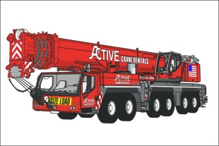 Active chose this graphic package for their new LTM 1350-6.1 crane.