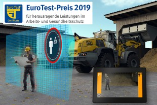 BG BAU presents active rear person recognition for XPower® wheel loaders with the EuroTest Prize 2019. The system specifically warns of accidents involving potential personal injury.