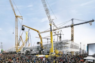 Liebherr at the Bauma Trade Show.