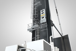 The lift is capable of transporting up to two people or a payload of 200 kg