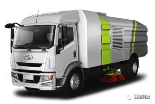 Municipal sanitation medium-duty truck by SAIC YUEJIN - © SHPT