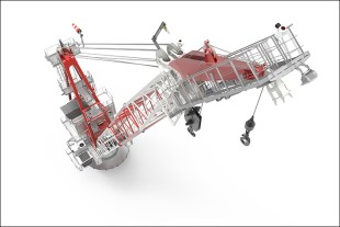 The Liebherr board offshore crane has a compact and function-orientated design.